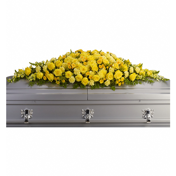 Golden Garden Casket Spray buy at Florist