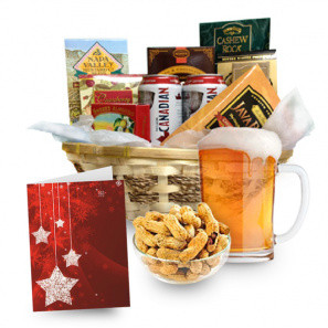 Beer & Nuts Basket buy at Florist