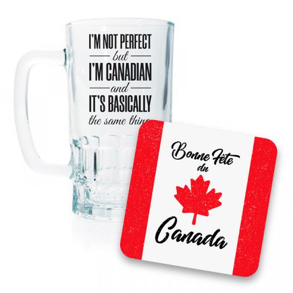 Canada Day Beer Mug and Coaster Set II