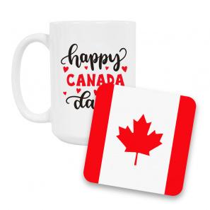 Canada Day Coffee Mug and Coaster Set II