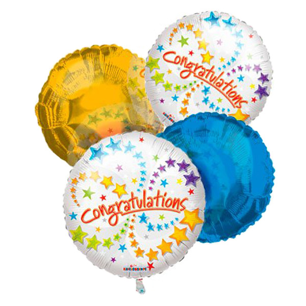 Congratulations Balloon Bouquet (4) buy at Florist