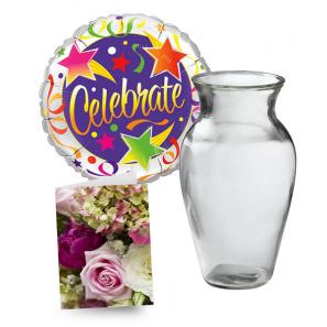 Balloon, Vase & Card