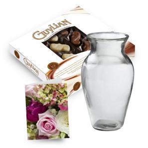 Chocolates, Vase & Card