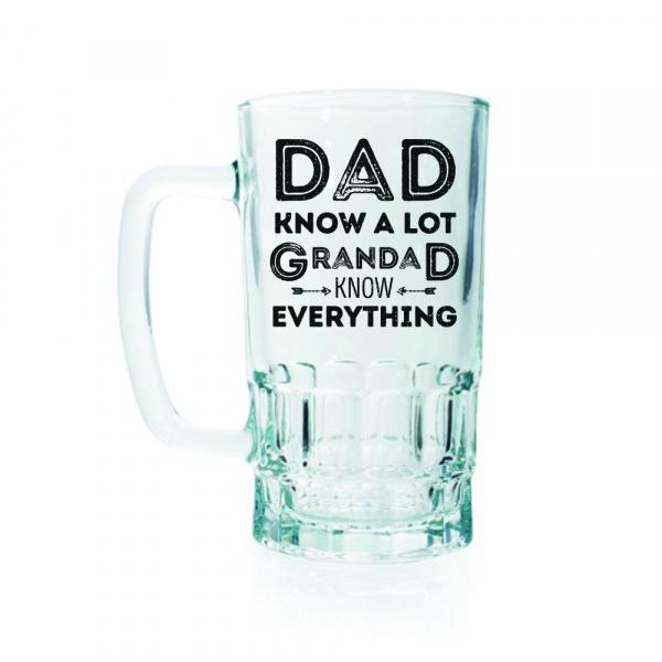 Dad Knows A Lot 20oz Beer Stein