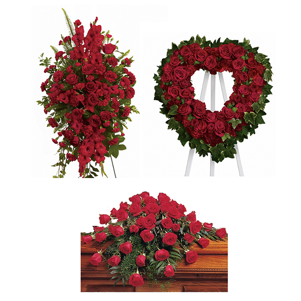 Faithful Rose Funeral Flower Package buy at Florist
