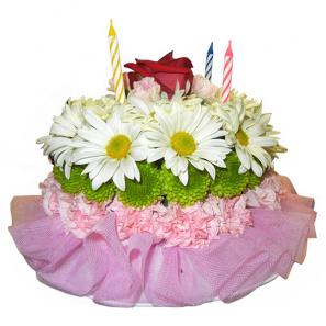 Flowery Wishes Flower Cake