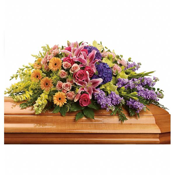Garden of Sweet Memories Casket Spray buy at Florist