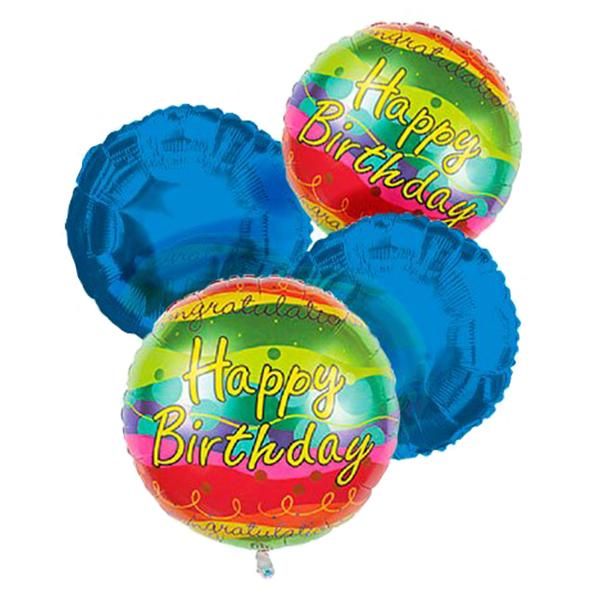 Happy Birthday Balloon Bouquet (4) buy at Florist