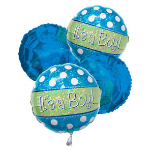 """It's a Boy"" Balloon Bouquet (4) buy at Florist"
