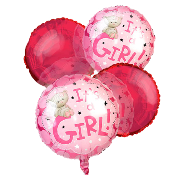 """""""It's a Girl"""" Balloon Bouquet (4) buy at Florist"""