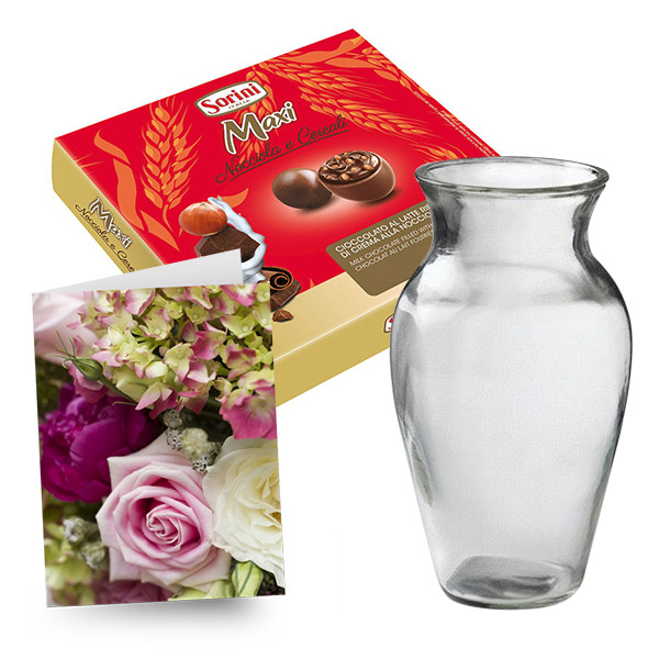 Large Chocolates, Vase & Card buy at Florist