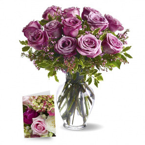 One Dozen Lavender Roses II buy at Florist