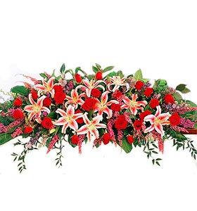 Rose and Lily Casket Arrangement buy at Florist