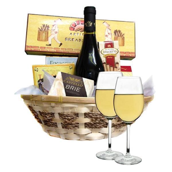 Classic White Wine Basket